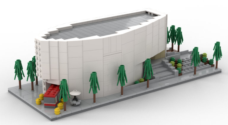 Micro Model of Calgary's New Central Library